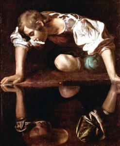 Michelangelo Caravaggio, suya bakan Narsis